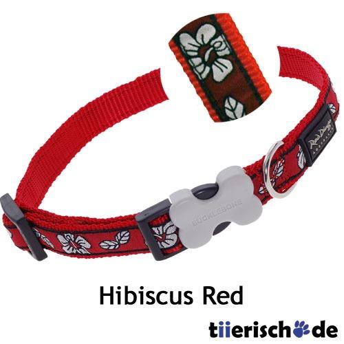 Red Dingo Hundehalsband Design Hibiscus