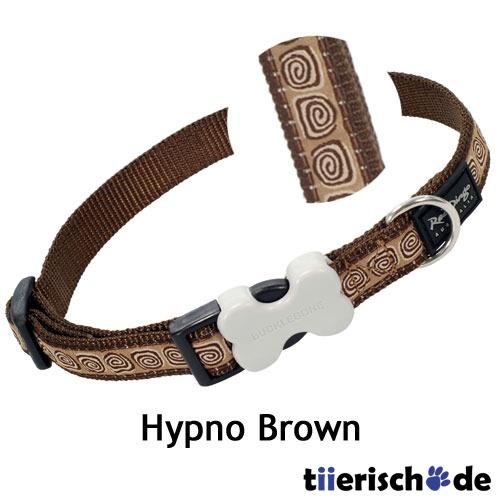 Red Dingo Hundehalsband Design Hypno Brown