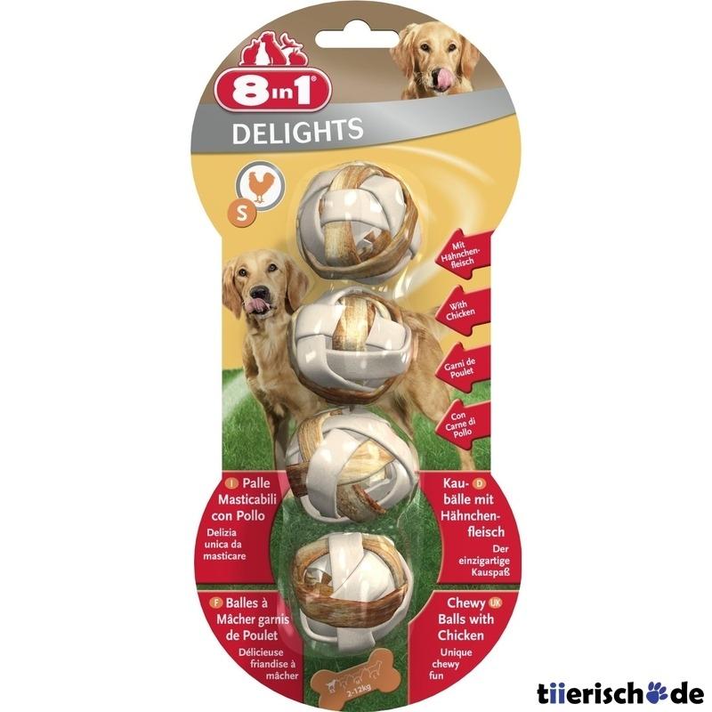8in1 Delights Kaubälle für Hunde