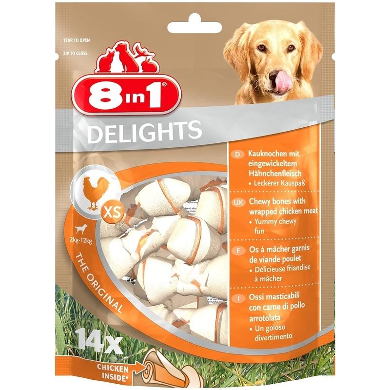 8in1 Delights Kauknochen XS für Hunde, Bild 2