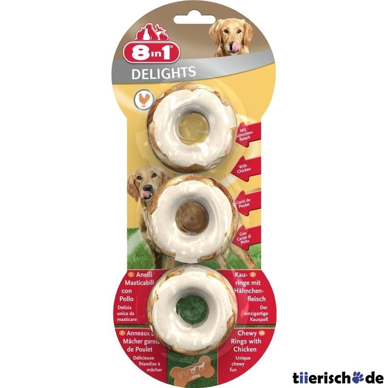 8in1 Delights Kauringe für Hunde