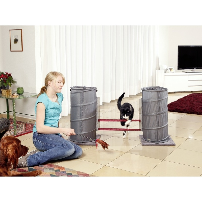 agility set f r katzen mit clicker von karlie flamingo g nstig bestellen. Black Bedroom Furniture Sets. Home Design Ideas