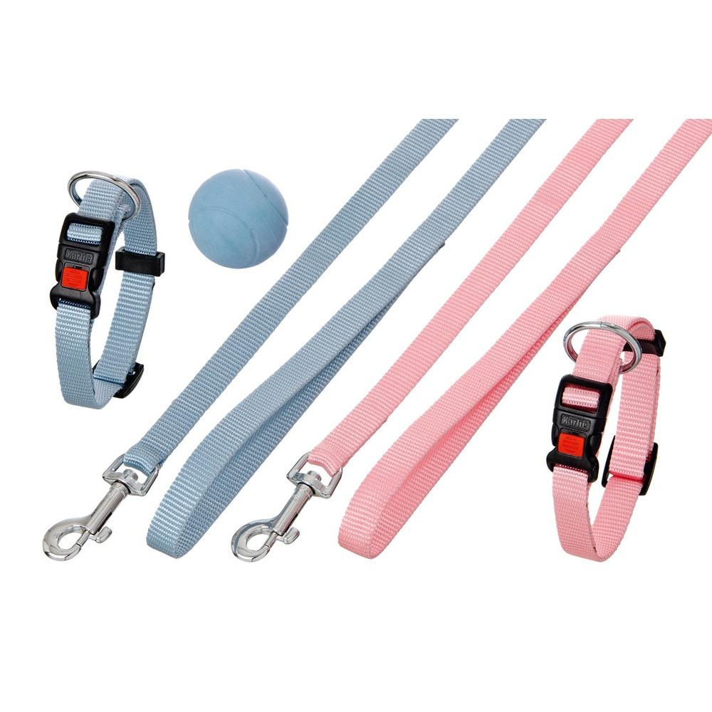 Karlie Flamingo Art Sportiv Plus Puppy Set Halsband und Leine