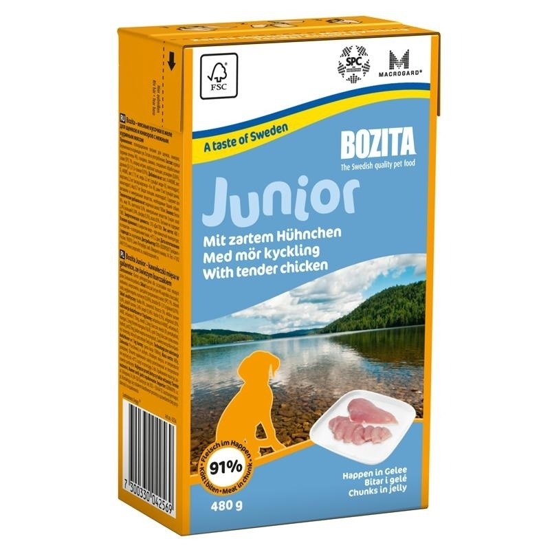 bozita tetra pak happen in gelee junior hundefutter von bozita g nstig bestellen. Black Bedroom Furniture Sets. Home Design Ideas