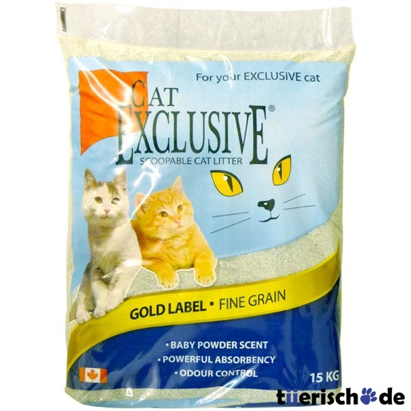 cat exclusive katzenstreu gold label 15 kg preisvergleich katzenstreu g nstig kaufen bei. Black Bedroom Furniture Sets. Home Design Ideas