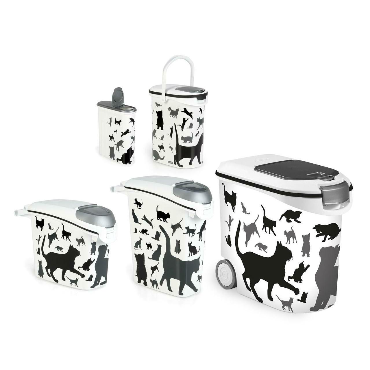 Curver Futtertonne Futterbehälter Silhouette Hunde