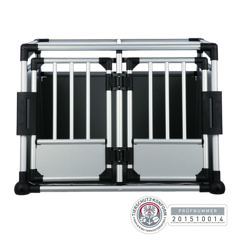 trixie doppel transportbox alubox autobox f r 2 hunde. Black Bedroom Furniture Sets. Home Design Ideas