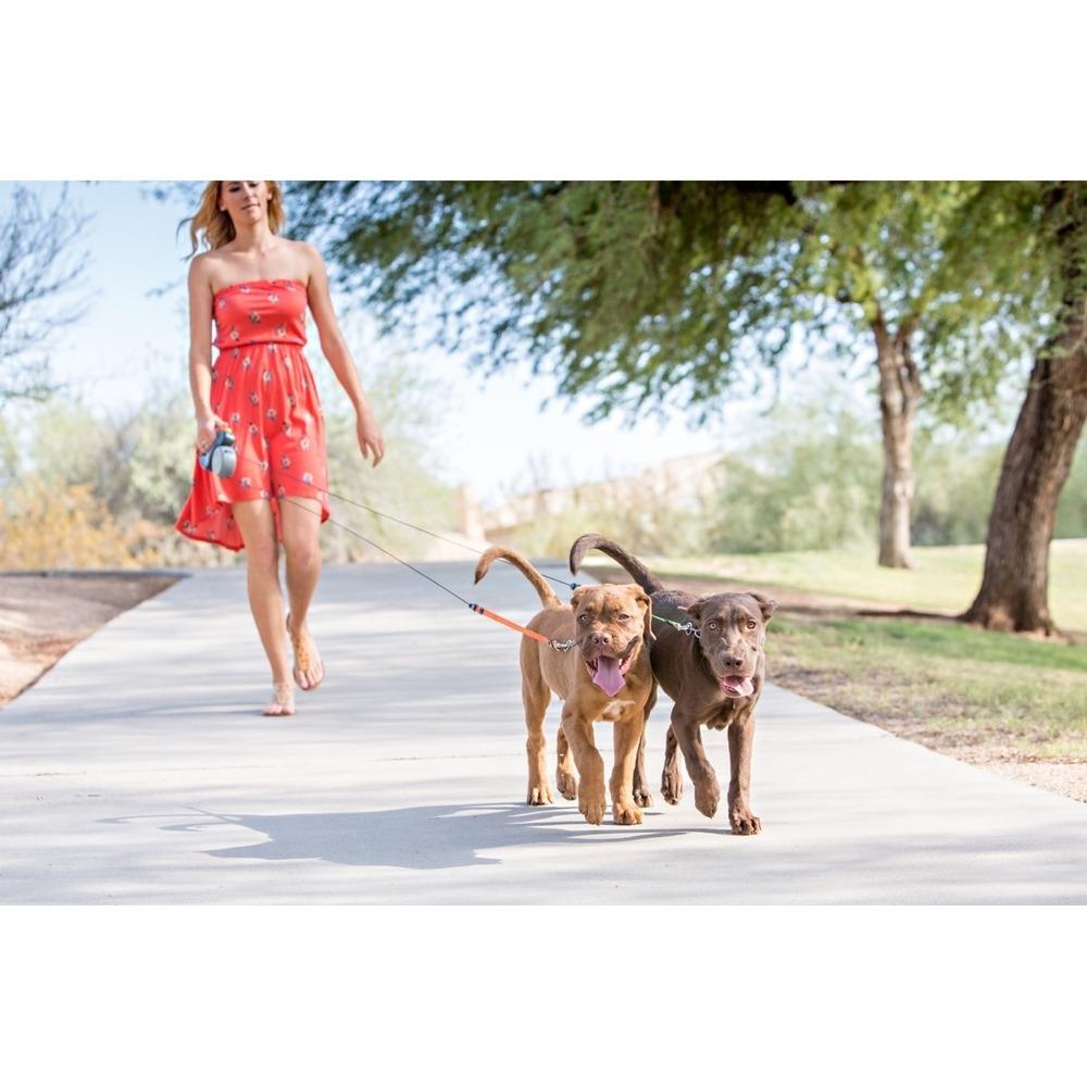 Dual Doggie Doppel Roll-Leine für 2 Hunde, Bild 2