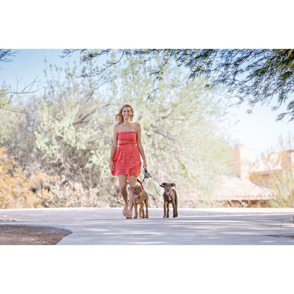Dual Doggie Doppel Roll-Leine für 2 Hunde, Bild 3