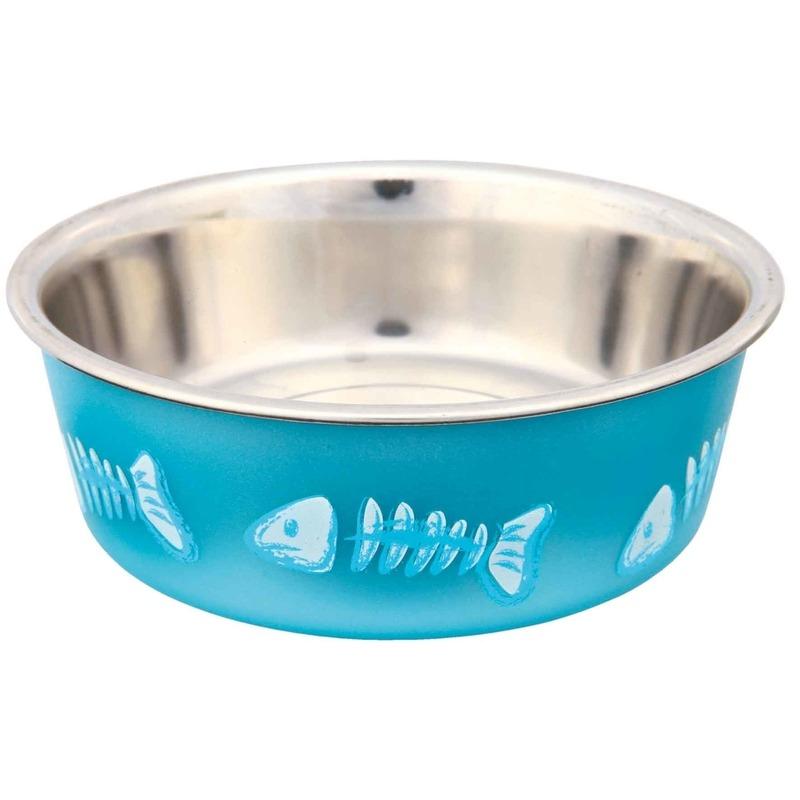 Trixie Edelstahlnapf für Katzen mit Kunststoffmantel 25270, Bild 2