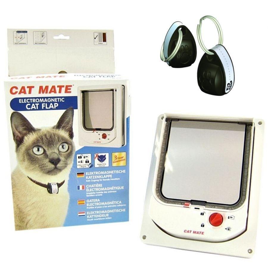 elektromagnetische katzenklappe mit magnethalsband cat mate 254 von cat mate g nstig bestellen. Black Bedroom Furniture Sets. Home Design Ideas