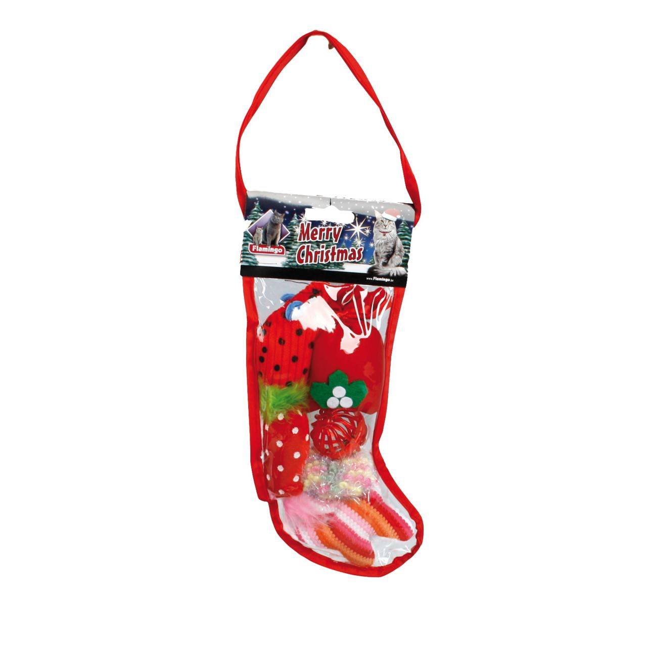 Gefüllter Weihnachtsstrumpf für Katzen von Karlie Flamingo günstig ...