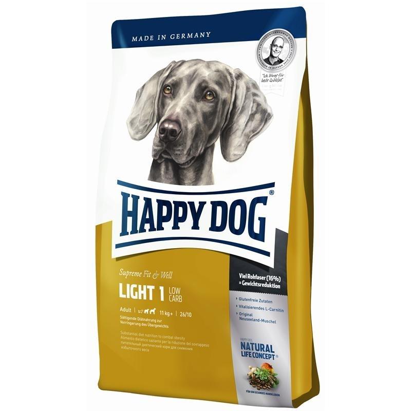 happy dog supreme light 1 low carb hundefutter von happy. Black Bedroom Furniture Sets. Home Design Ideas