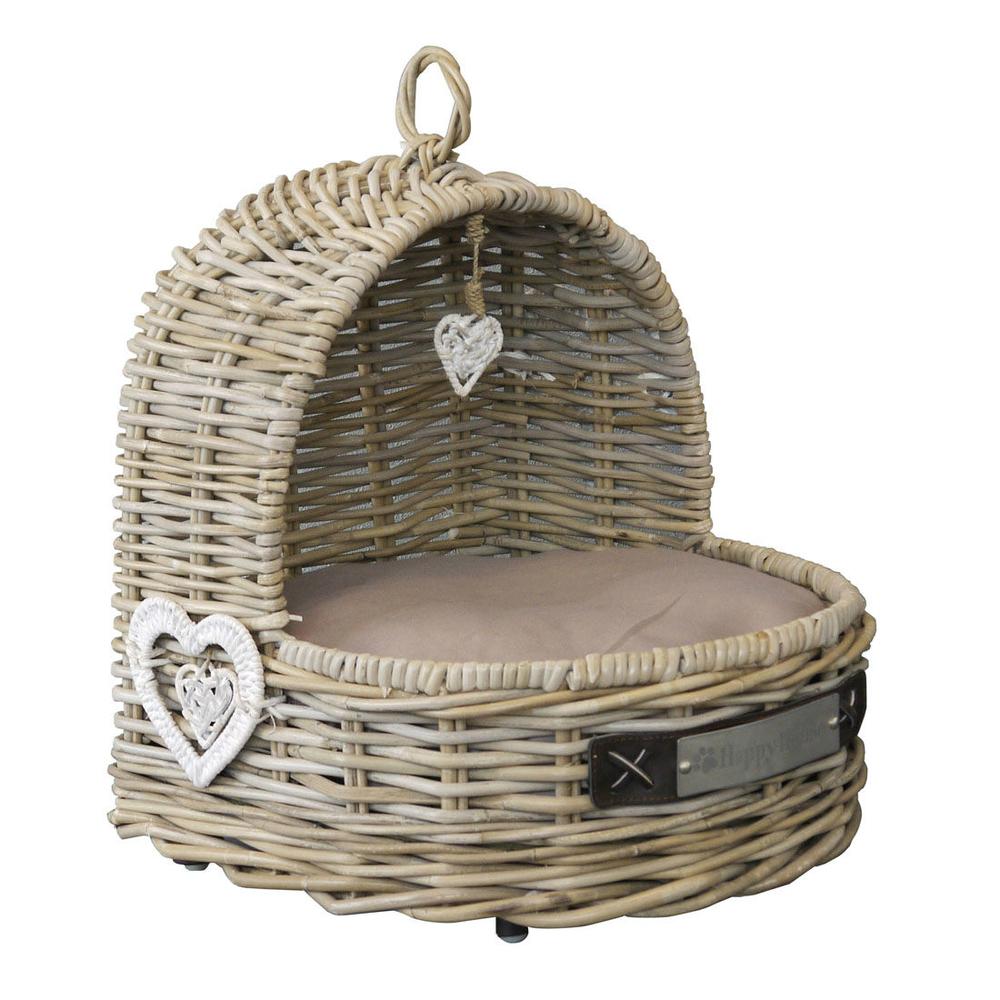 happy house rattan katzen wiege schlafplatz von happy. Black Bedroom Furniture Sets. Home Design Ideas