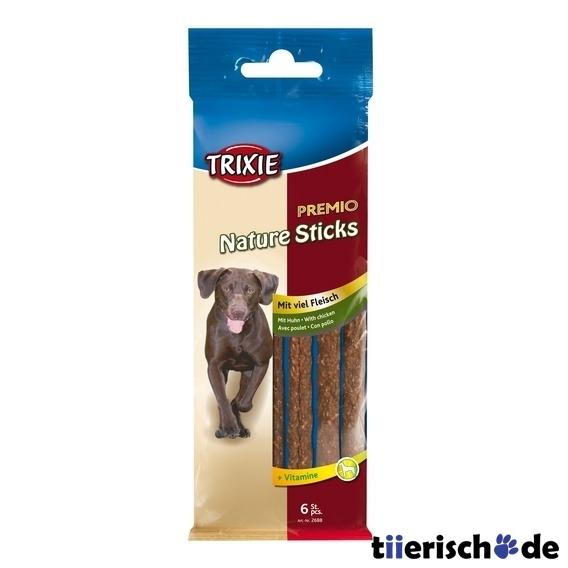 Trixie 6 Chicken Natur Sticks, Hunde Leckerlie, ca. 50 g