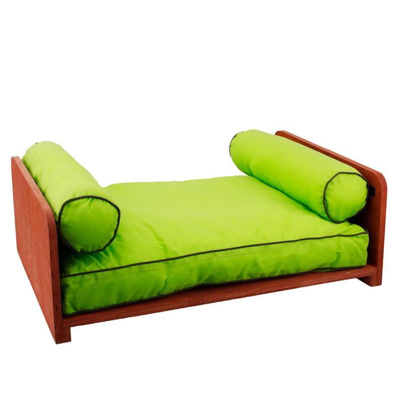 hundebett aus holz mit kissen von karlie flamingo g nstig. Black Bedroom Furniture Sets. Home Design Ideas