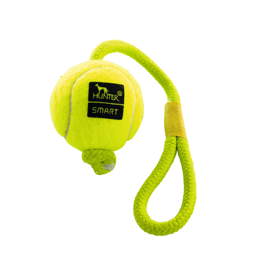 Hunter Hundespielzeug Tennisball Throw mit Kordel 92383