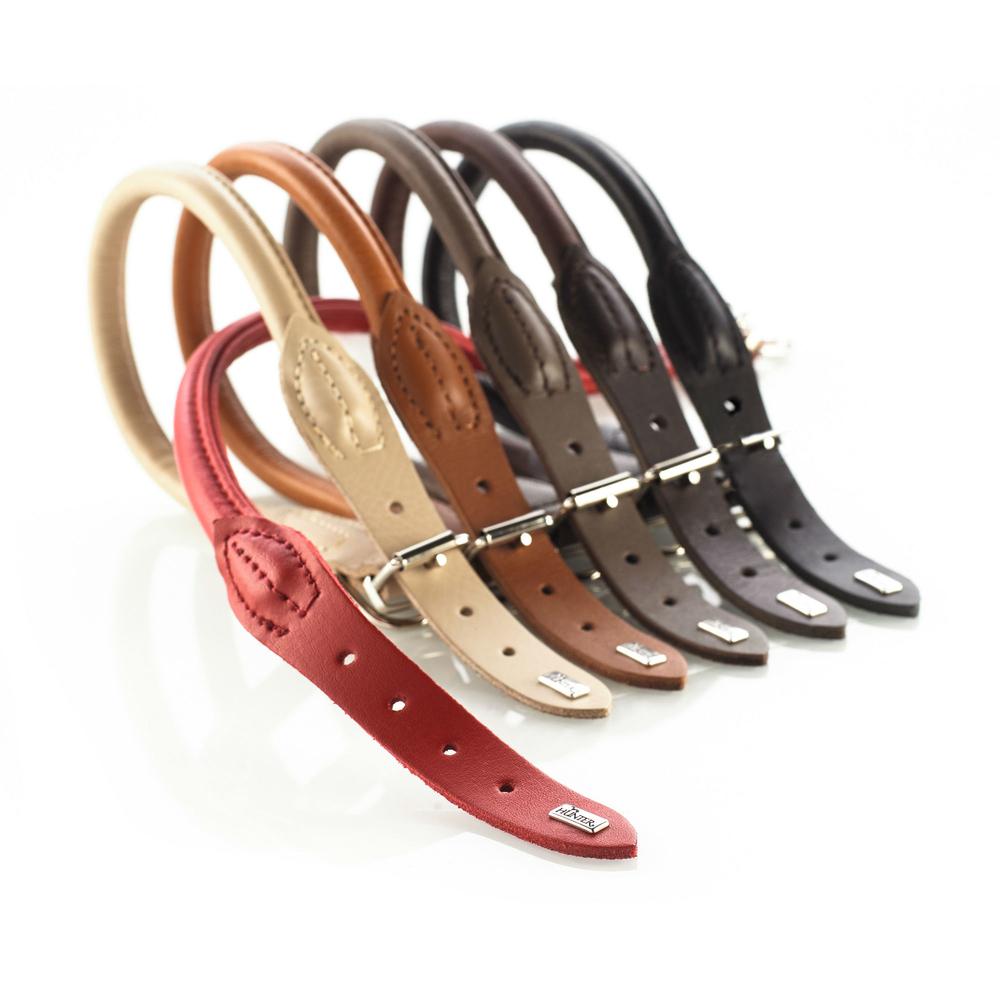 hunter halsband aus elchleder round soft 61170 von hunter online kaufen. Black Bedroom Furniture Sets. Home Design Ideas