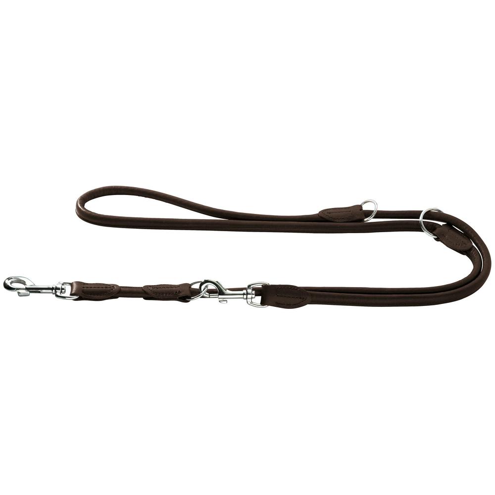 Hunter Hundeleine aus Elchleder Round  und  Soft, 1 m lang, 10mm breit, beige - Preisvergleich