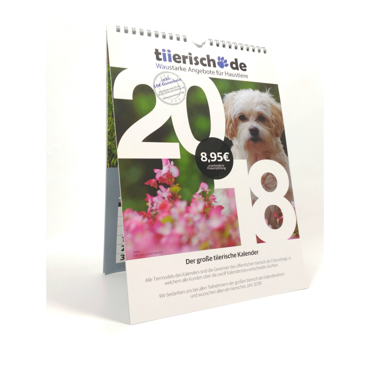 tiierisch.de Kalenderstars 2018 - der tiierische Jahreskalender