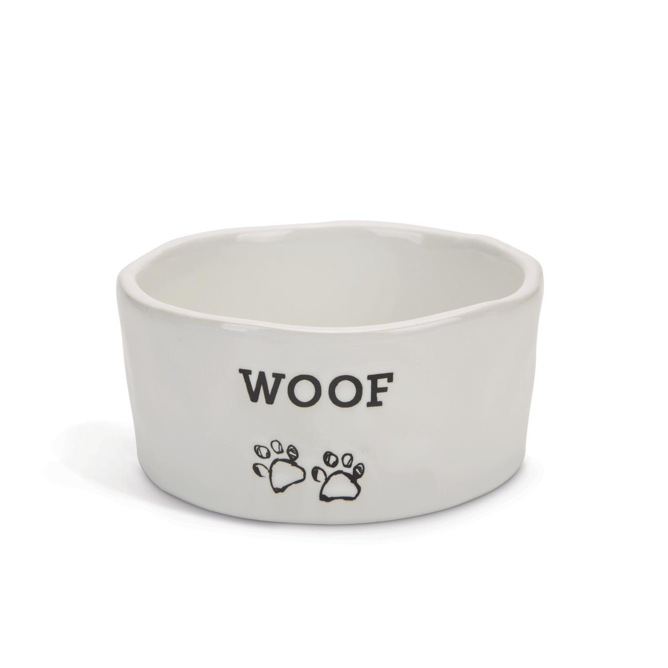 Beeztees Keramik Napf für Hunde WOOF
