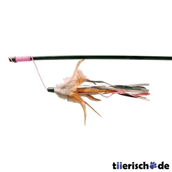 Trixie Katzen Spielangel mit Lederbändchen und Federn 4550