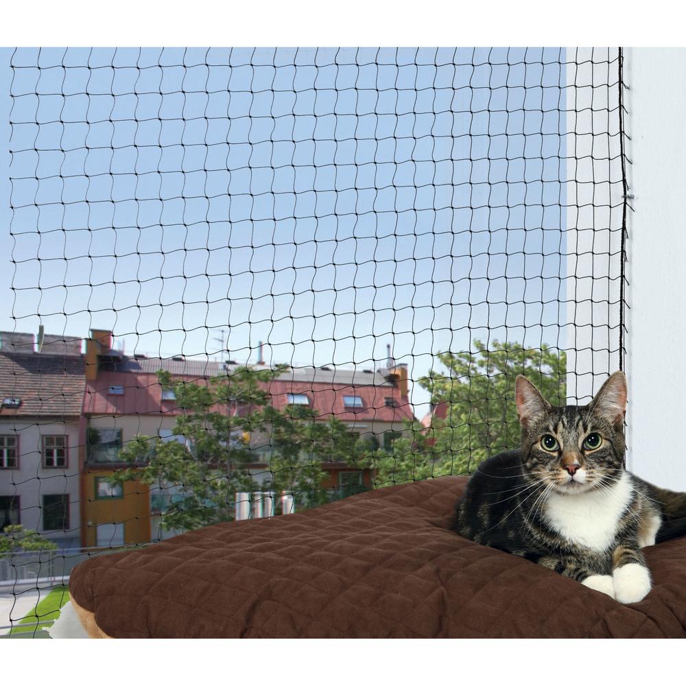 katzenschutznetz mit montage befestigung 44301 von trixie. Black Bedroom Furniture Sets. Home Design Ideas