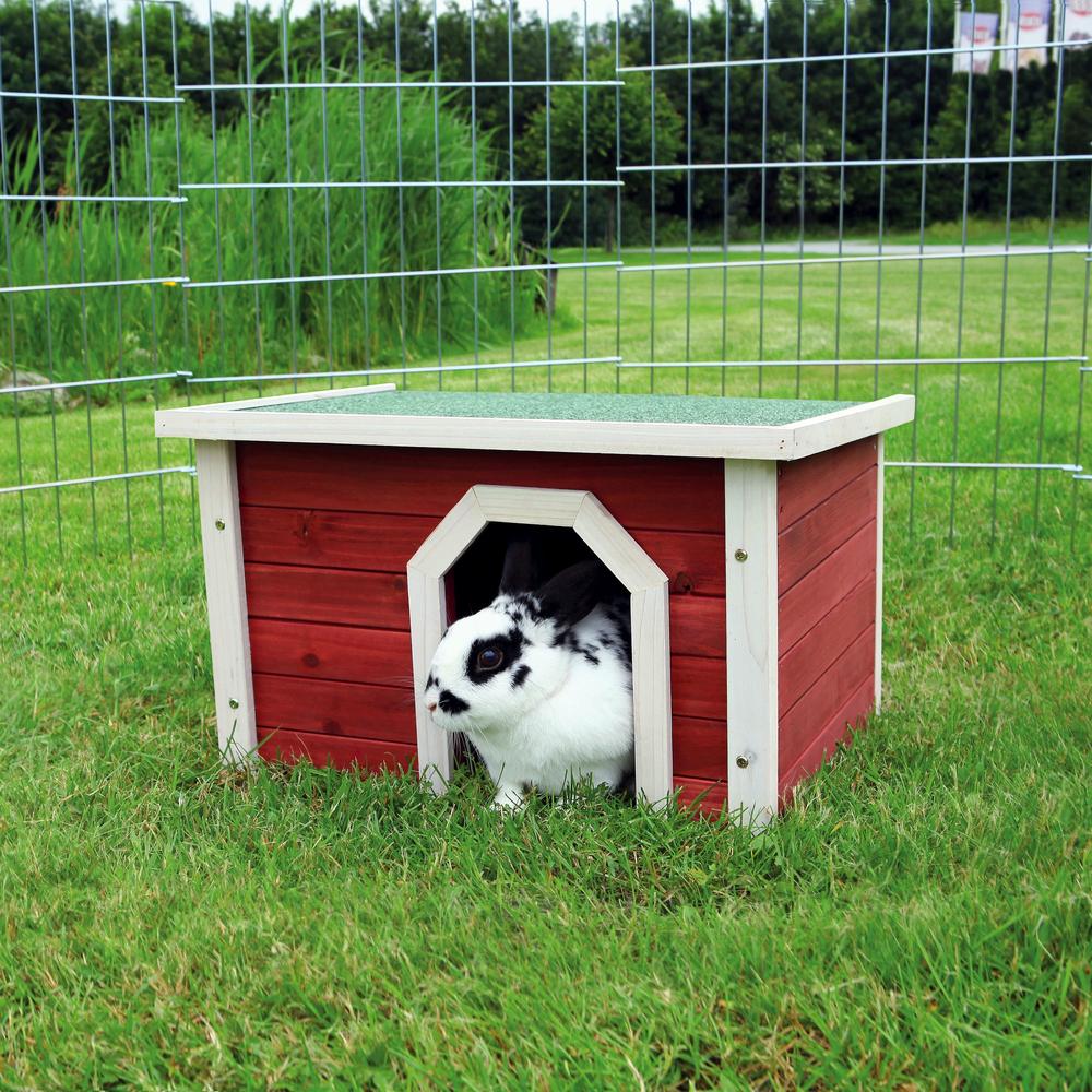 Trixie Kleintierhaus aus Holz rot weiß 62396