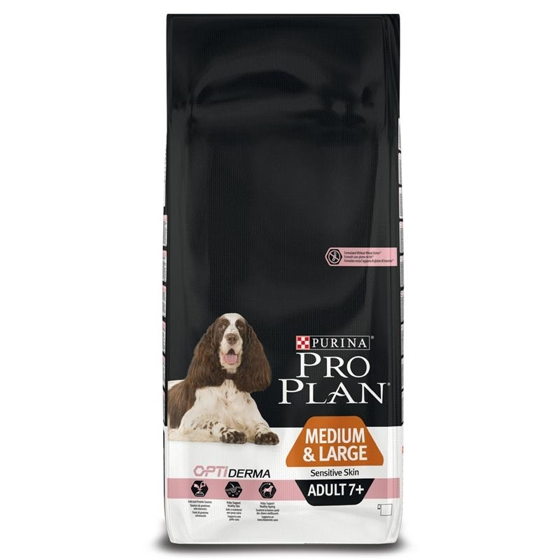 pro plan adult 7 medium large senior sensitive skin hundefutter von purina g nstig bestellen. Black Bedroom Furniture Sets. Home Design Ideas