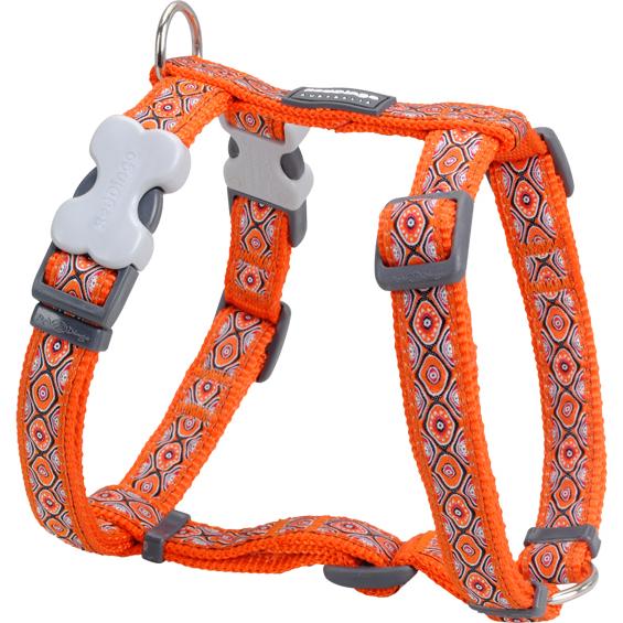 Red Dingo Geschirr Snake Eyes Orange