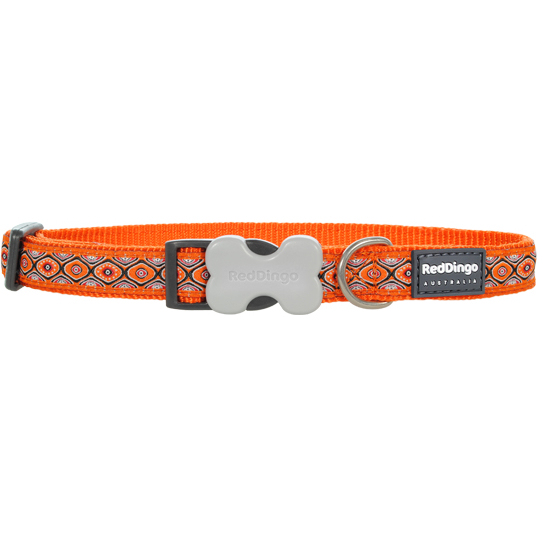 Red Dingo Halsband Design Snake Eyes Orange