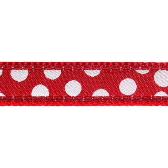Red Dingo Hundehalsband mit weißen Spots, Bild 2