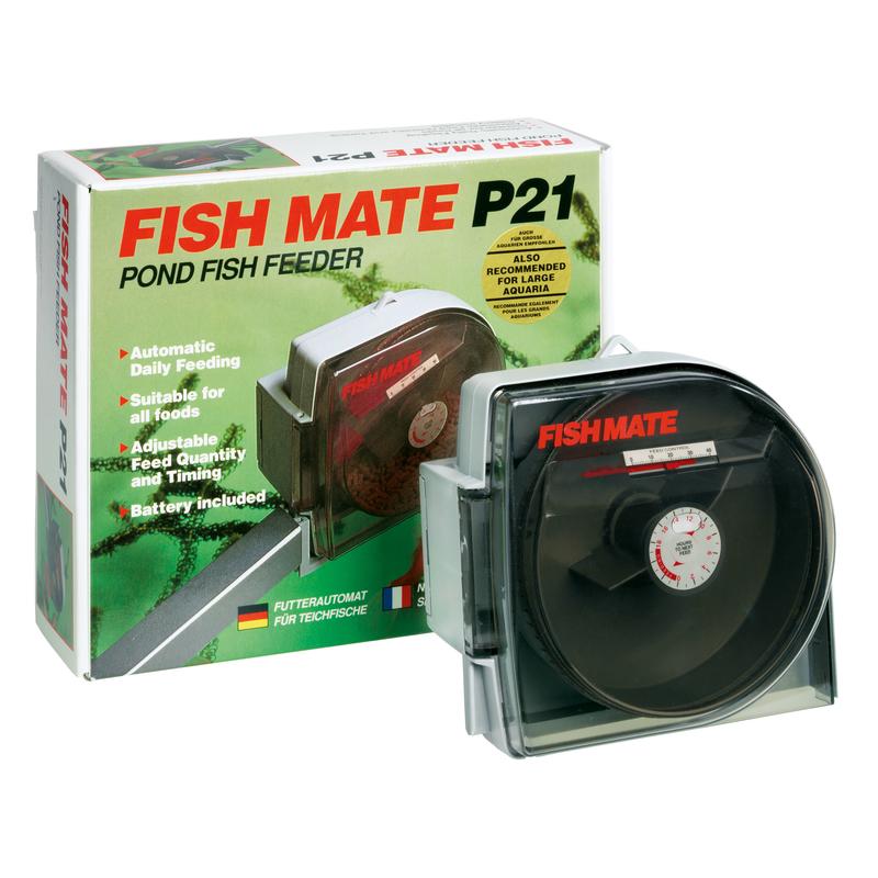 Teichfutterautomat fish mate p21 von pet mate g nstig for Teichfische bestellen