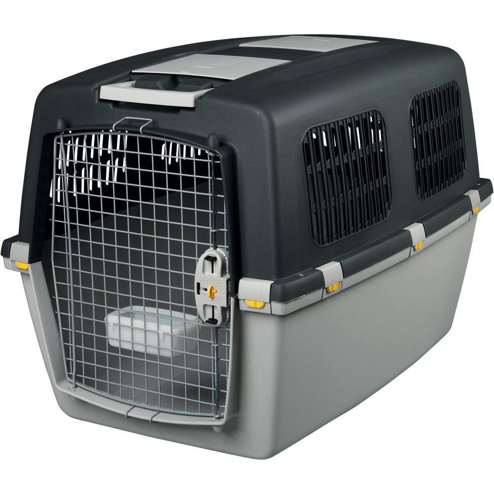Stefanplast Transportbox Hund Gulliver, IATA Flugbox, Gulliver 6: 92x64x64 cm, dunkelgrau/hellgrau