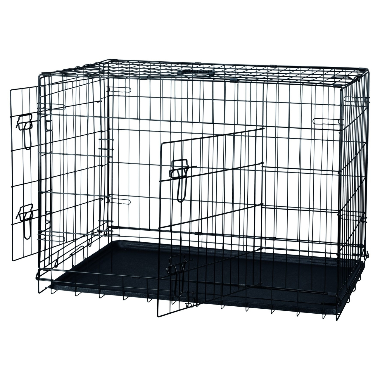 transportk fig schwarz f r hunde verzinkt 993922 von. Black Bedroom Furniture Sets. Home Design Ideas