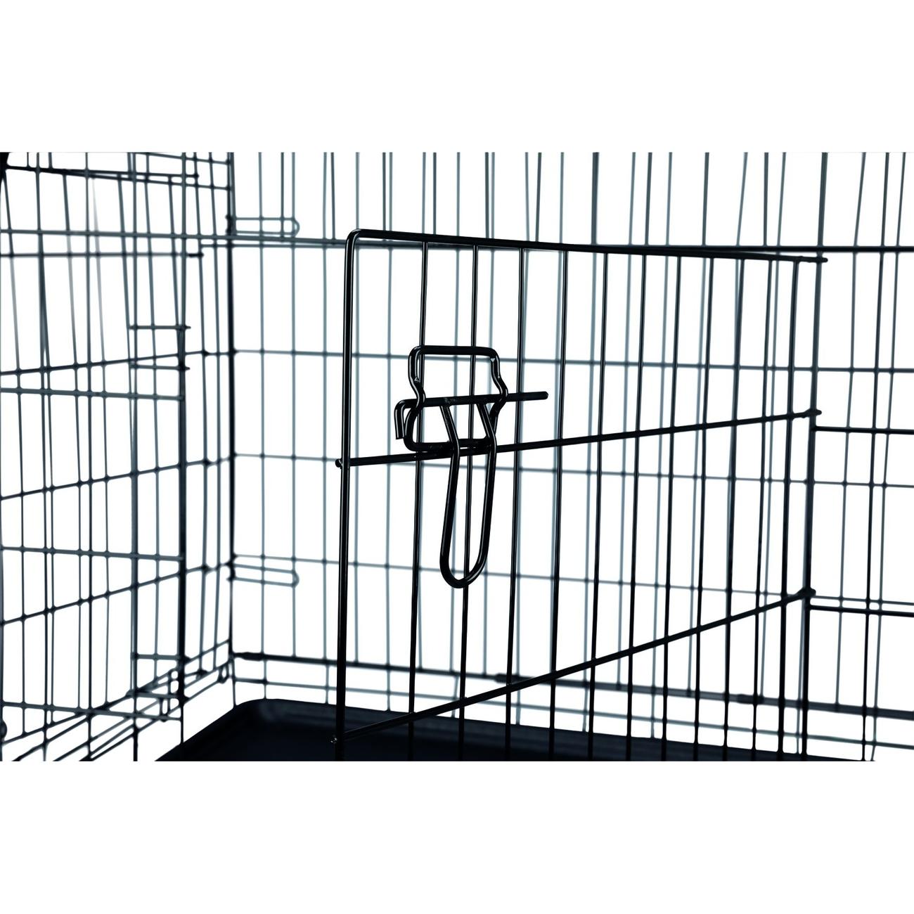 Trixie Transportkäfig schwarz für Hunde, verzinkt 993922, Bild 2