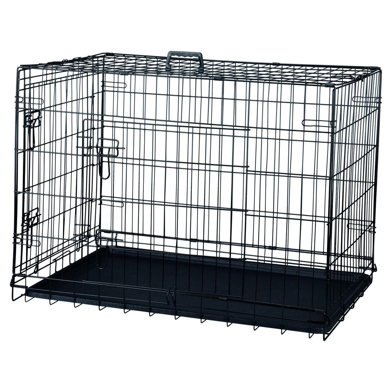 Trixie Transportkäfig schwarz für Hunde, verzinkt 993922, Bild 3