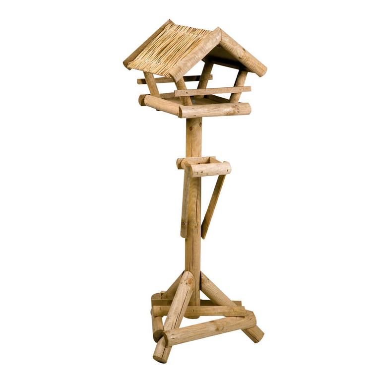 vogelfutterhaus f r wildv gel larix rieddach auf st nder von karlie flamingo g nstig bestellen. Black Bedroom Furniture Sets. Home Design Ideas