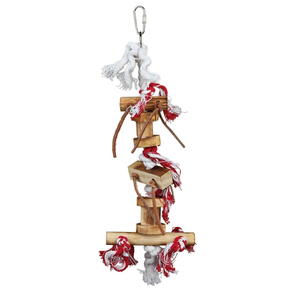 vogelspielzeug aus holz mit lederb ndchen 58844 von trixie g nstig bestellen. Black Bedroom Furniture Sets. Home Design Ideas