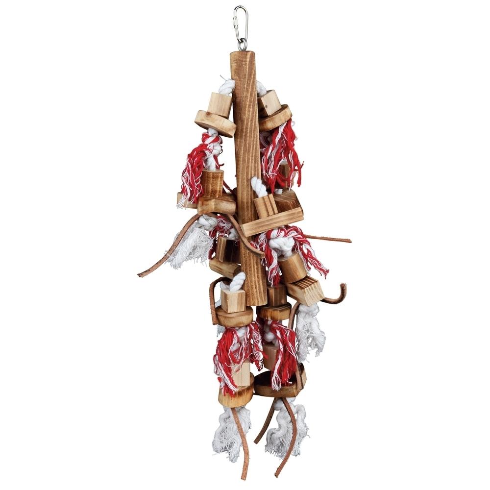 vogelspielzeug holz mit lederb ndern 58845 von trixie g nstig bestellen. Black Bedroom Furniture Sets. Home Design Ideas