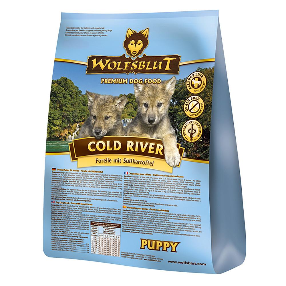 wolfsblut cold river puppy welpenfutter von wolfsblut g nstig bestellen. Black Bedroom Furniture Sets. Home Design Ideas