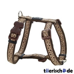 Hundegeschirr Red Dingo Full Color Bedrock Brown