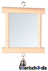 Vogelkäfig Spiegel mit Messingglocke