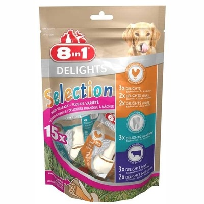 8in1 Delights Selection Kauknochen Vielfalt XS
