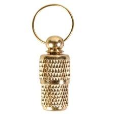 Adressanhänger aus Metall Gold