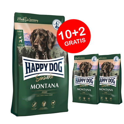 Aktionsangebot: Happy Dog Montana 10kg + 2kg GRATIS