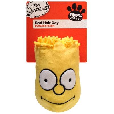 Bart Simpson Bad Hair Day Plüsch Hundespielzeug