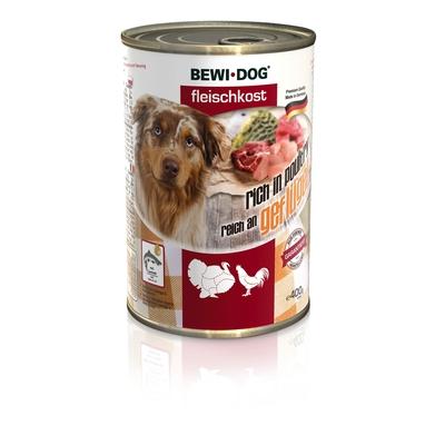 Bewi Dog Fleischkost, Nassfutter für Hunde