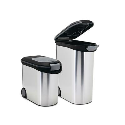 Curver Futtercontainer Futtertonne Metallic