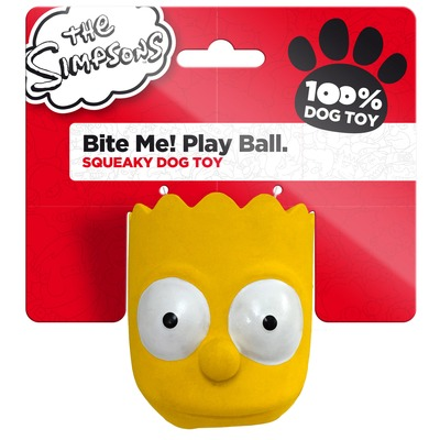 Die Simpsons Latex Hundespielzeug Play Ball Bart